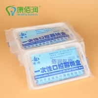 Disposable oral check package disposable plates three complete disposable oral oral package box