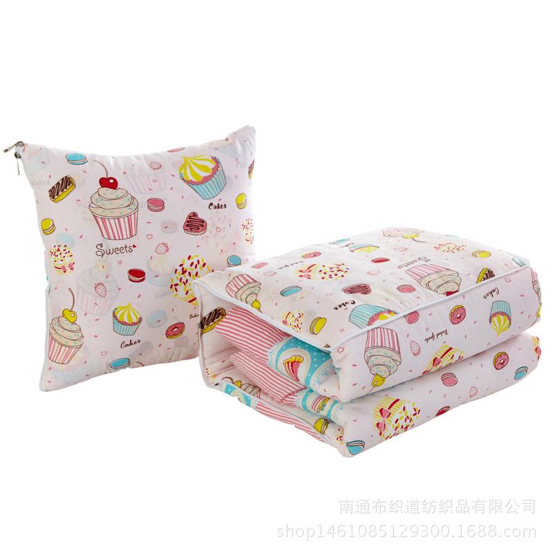 自動車クッションカバークッションとして綿布団両用チューバ折りたたみ枕オフィスれ小冬
