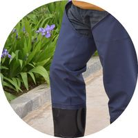 The utility model relates to a pair of trousers, trousers, trousers, waterproof trousers, waterproof trousers, a fishing reservoir, a fishing pants, a waterproof trousers and a mail bag