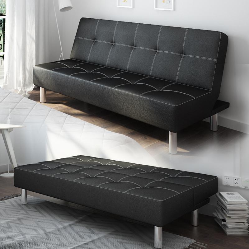 απλό καναπέ - κρεβάτι πολυλειτουργική δέρμα πτυσσόμενου τρεις άνθρωποι 1,8 m μικρό διαμέρισμα ξύλινα καναπέ - κρεβάτι 1,5 m