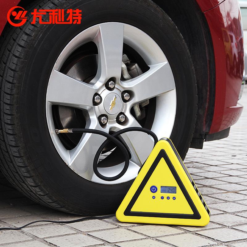 尤利特 數顯預設胎壓車載充氣泵電動12v汽車用輪胎打氣泵yd-306