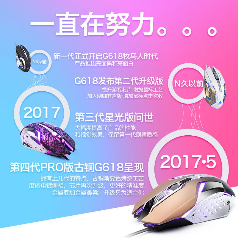 Internet câblé métallique spécial main portable de manger du poulet avec nouvelle machine optique souris câblées un silencieux