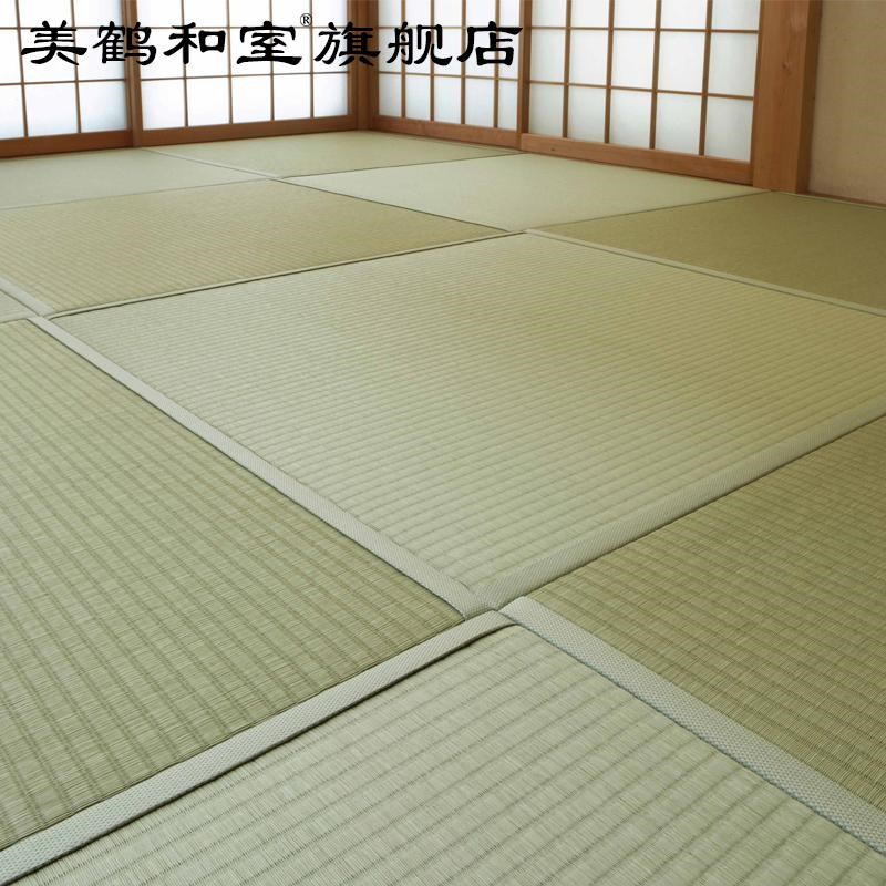 The crane and tatami mats made beautiful brown tatami mattress coir mat cushion platform