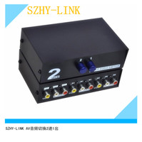Mail av4 into 1 audio and video switcher, AV signal switcher, with remote control, with power supply