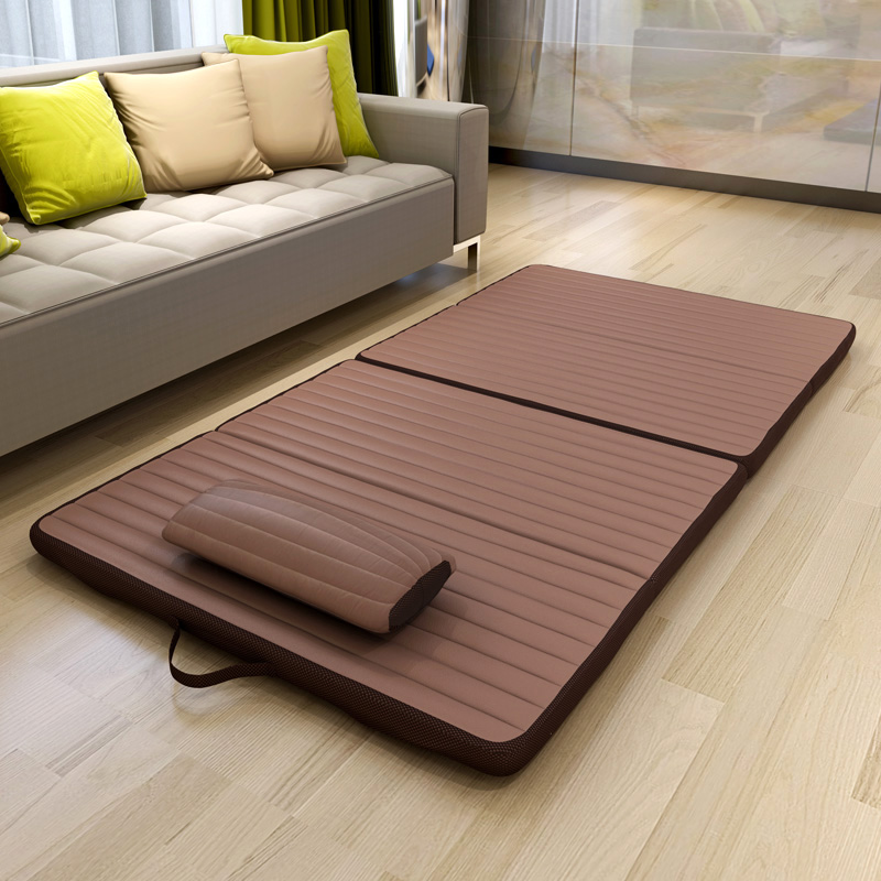 Simple folding bed single moisture nap pad office camping mats yoga mat mattress folding mat student lunch