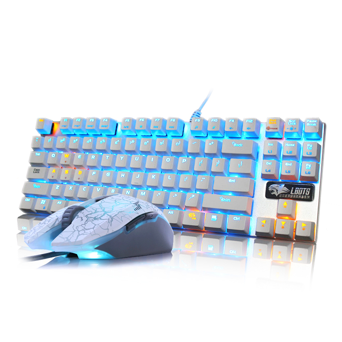 Bao Shunfeng Dahl and the mechanic Wrangler gaming mouse 108 metal keyboard and mouse black shaft 87