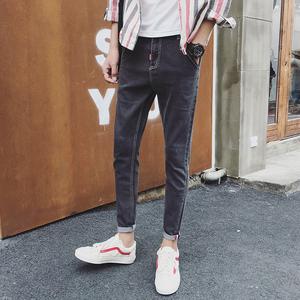 男士新款牛仔韩版直筒修身牛仔裤男青年男生休闲弹力小脚长裤512