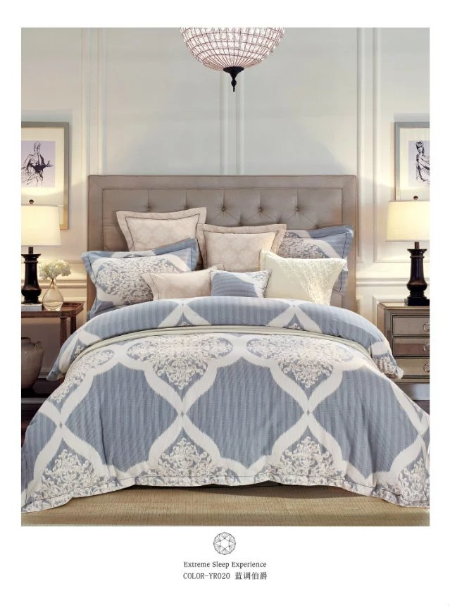 Manufacturers selling high-end bedding 60 double-sided sanding Tencel super soft velvet warm up four piece Blues count