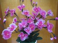 silkestrømpe blomst materiale håndlavede orkide pakke pakke pakke post et komplet sæt