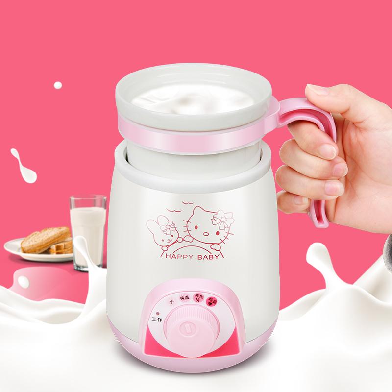 El guiso de la Copa mini termo viajando de la taza de sopa de agua hirviendo calienta la leche de avena
