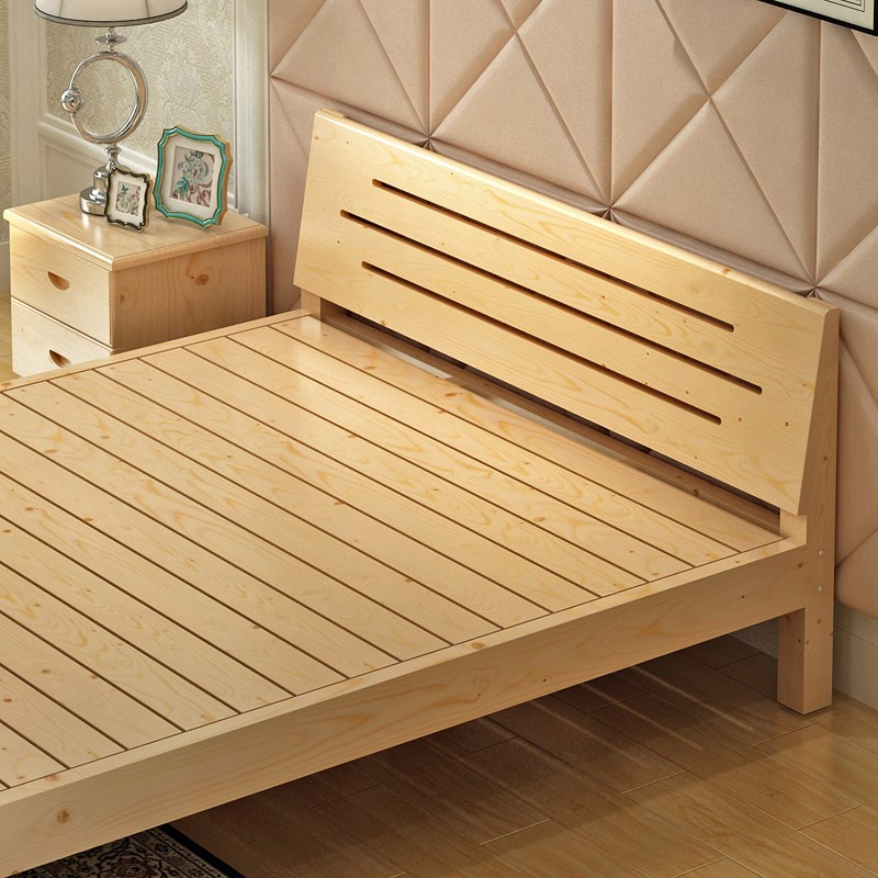 Solid wood bed single bed double bed loose special offer simple modern adult bed children bed 1.21.51.8 shipping