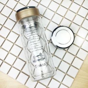 定制水杯印logo玻璃杯子印字广告礼品促销开业双层定做水晶杯耐热