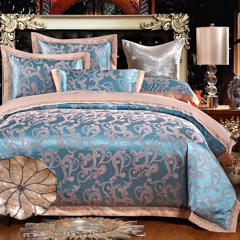 New cotton and Pure Cotton Satin Jacquard European Cathy embroidered quilt four sets of four sets of factory outlets