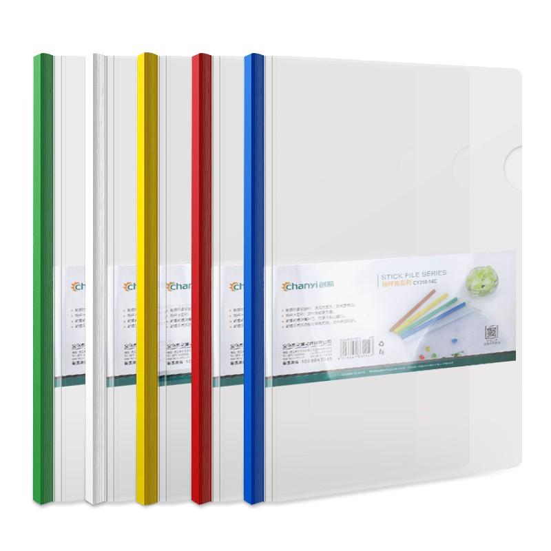 La Oficina de bisagra clip de plástico con un libro único curriculum vitae simple carpeta transparente bolsa concilio