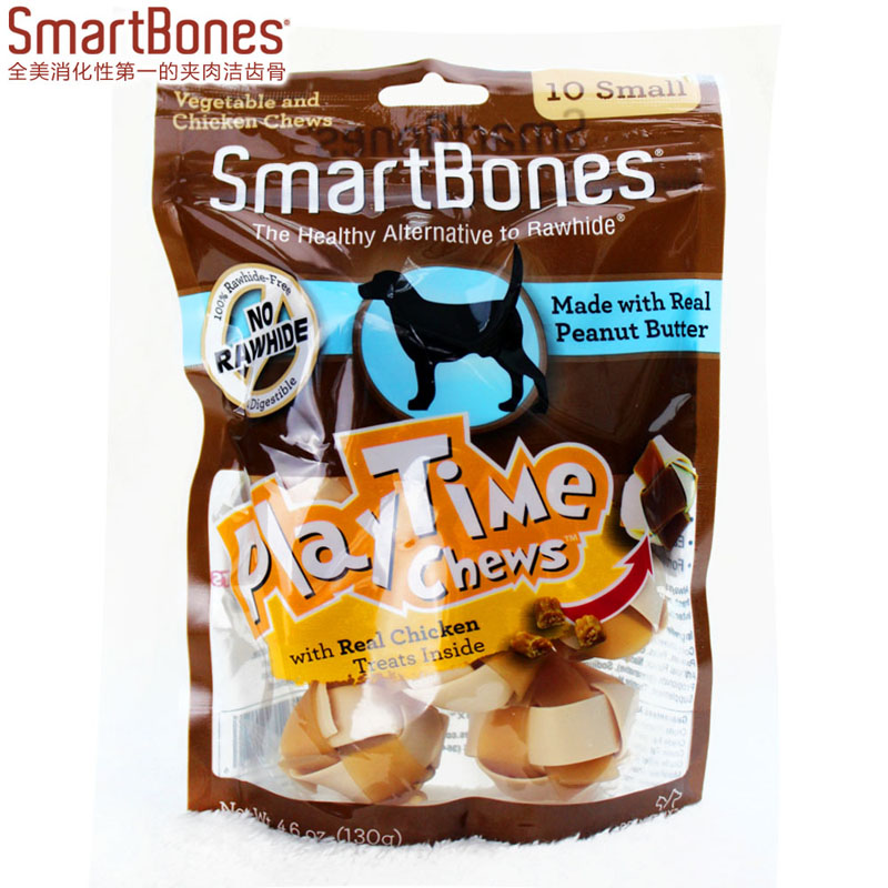 The United States SmartBones woven ball peanut butter 130g (10 Pack) pet snacks bone chewing gum