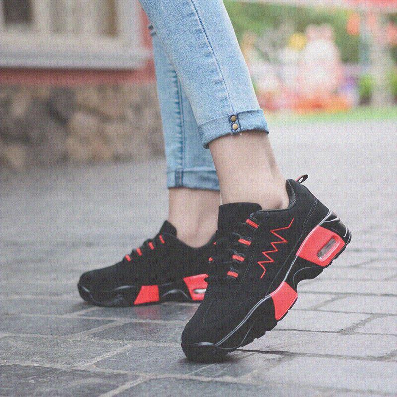 En la primavera de 2017 de ocio de gamuza. Zapatos de piel de Escarcha de ganado salvaje de los zapatos planos de zapatos deportivos bajo el zapato