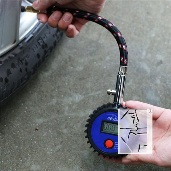 Tire pressure gauge table for vehicle tire pressure gauge pressure monitor high precision digital display can release Besty tire pressure
