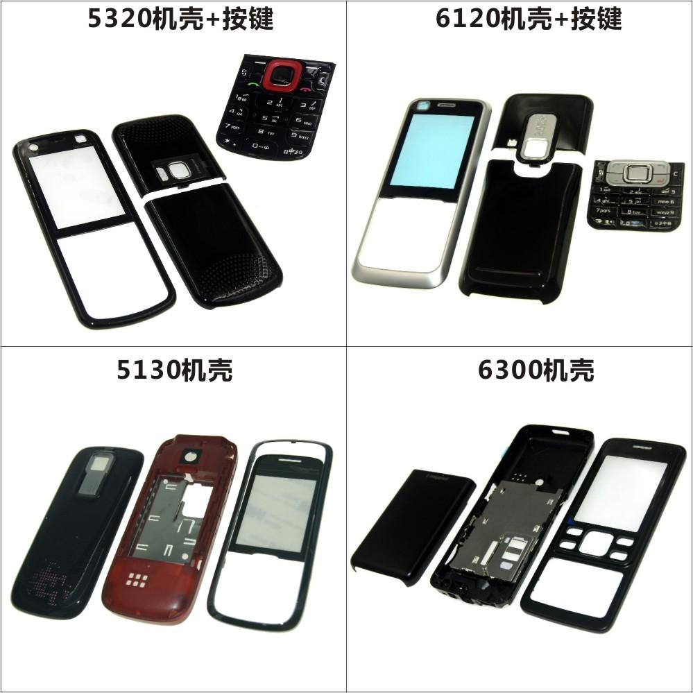 قابلة للتطبيق على Nokia 5320 6120 5130 Case 6300 Mobile Shell Shell Battery Back Cover