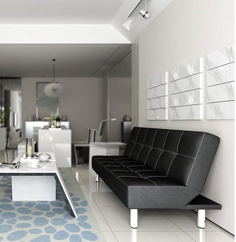 Les tissus extensibles simple de canapé - lit de 1,8 m cm à double usage chambre Multi - fonction pause déjeuner de personnalité de cuir