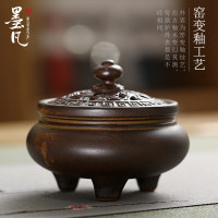 Creative handmade tea incense incense sandalwood sandalwood incense censer Candlestick pomander lying incense censer home imitation