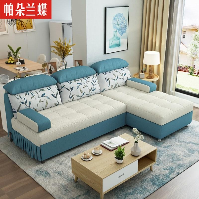家庭用のファッションの小型多機能ソファベッド折りたたみ両用リビング可洗い張り収納布製ソファ