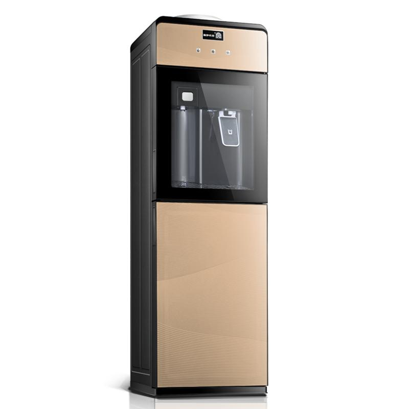 горячий питьевой машины вертикальный теплый офис лед холодной и горячей воды машины энергосберегающих бытовых стекла двойные двери