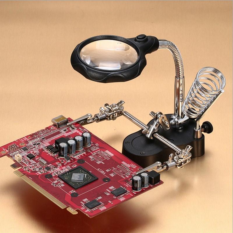 spawanie i stacjonarny, rozszerzenie lustro z lampą powiększające wiele razy, 10 razy pasa typu naprawy stacji.