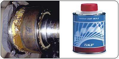 SKF Fett LGAF3E peristaltikhemmende Korrosion 0,5 kg.