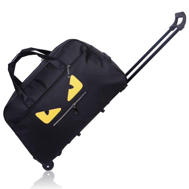 纯色小怪兽男女拉杆包旅行手提旅游包登机箱大容量包行李包袋
