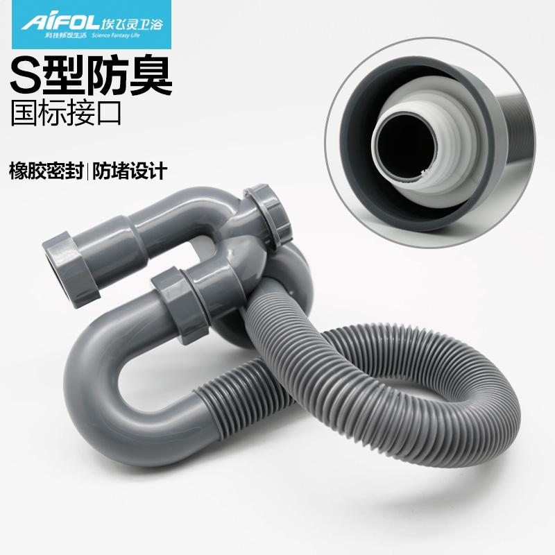 En tuberías de agua del plato de plástico del tubo de drenaje de una lavadora de platos cuenca circular la manguera de agua de drenaje