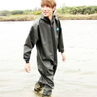 The official jiangtaigong pant conjoined body thickened fishing fishing pants suit waterproof clothing wading pant suit