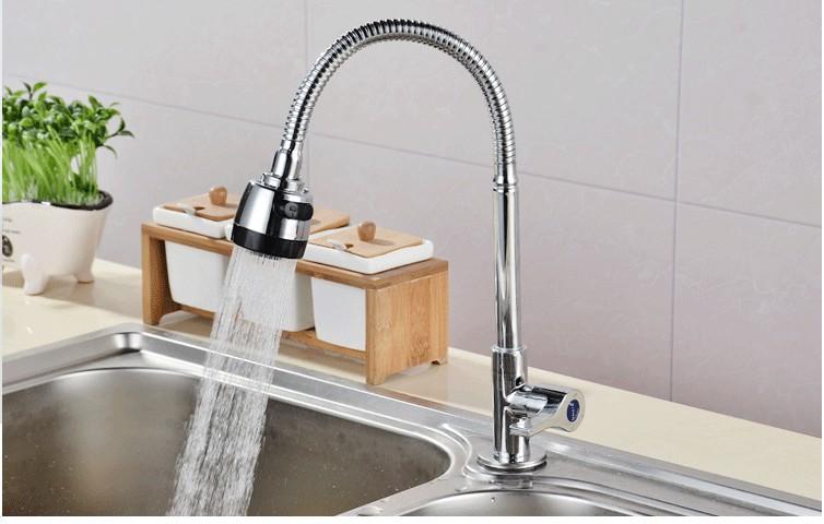 kran w kuchni, zimno tylko zlew w zlewie i kran zbiornika miedzi i stali nierdzewnej rdzenia tap