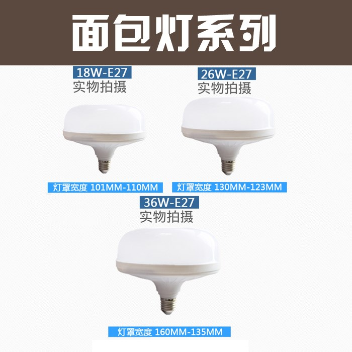 Bread lamp, led ceiling lamp, energy saving super bright workshop, lighting indoor, home bubble, high power E27 screw mouth