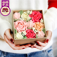 Package simulation, immortal flower gift box, creative birthday gift nonwoven fabric, DIY handmade material package