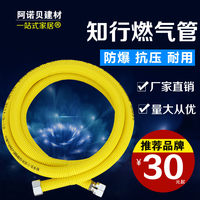 Knowing and doing 304 stainless steel gas pipe, natural gas water heater, gas pipe, gas pipe, special hose for gas