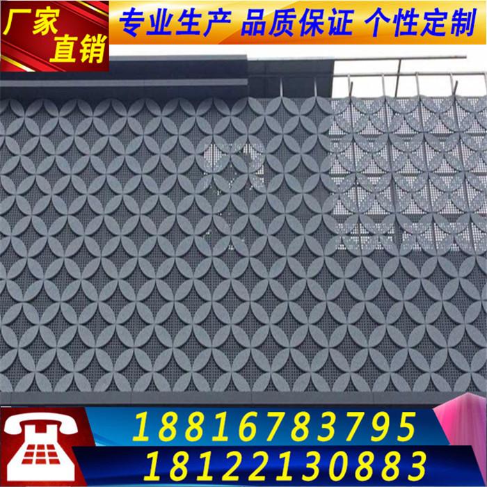 El hueco de la pared de chapa de aluminio rociado de 2,0 mm de aluminio perforado y placas de aluminio de la puerta tallada en forma de techo