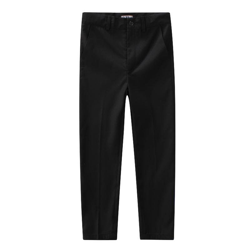 贝贝童装男童黑色西裤儿童长裤子钢琴表演学院服童装纯黑色西装裤
