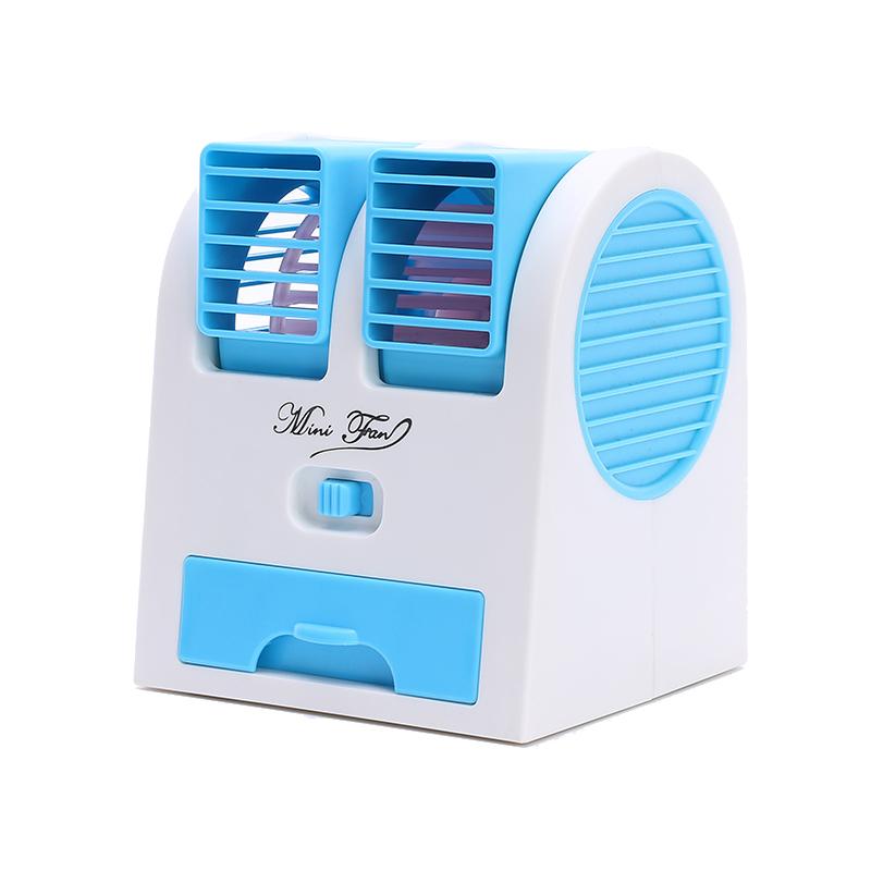 L'Aria condizionata E mini Mini ventilatore portatile Desktop dormitorio senza foglie Grandi Batterie ricaricabili USB