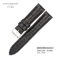 Longines 20MM manual Ostrich Leather Watch Strap Watch Strap Watch Strap Mens Watch Strap Master Series Leather Watchband