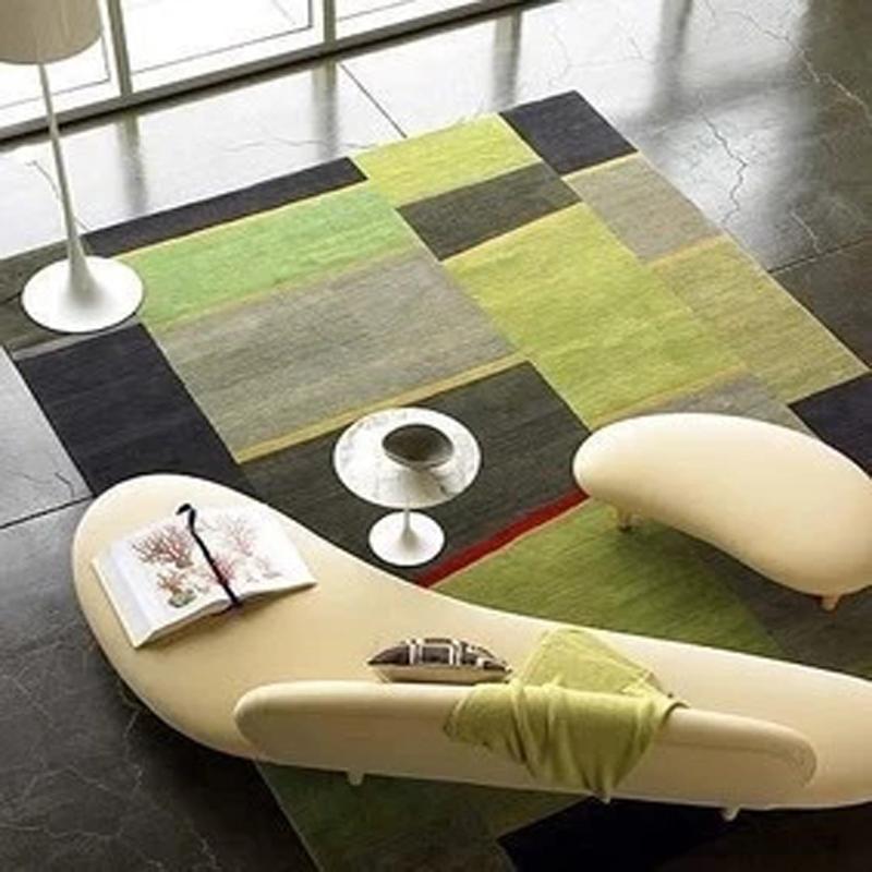 ファッションの緑格子イケアカーペット茶卓リビングソファベッド書房手作りアクリルじゅうたん絨毯寝室