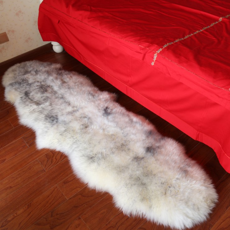 The bedroom carpet bed pad white wool carpet tatami mats wool carpet sofa cushion white wool sheepskin