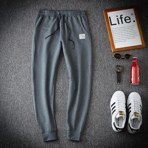 纯色新潮流休闲宽松裤子小脚70%棉25%聚酯纤维5%氨纶D452P48