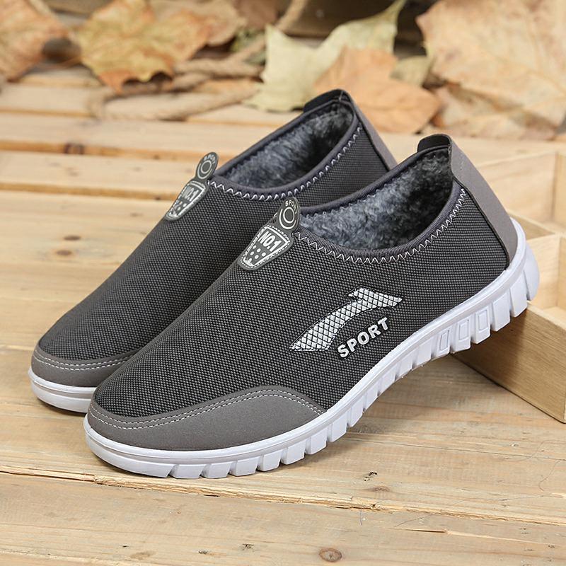 秋冬新款男棉鞋运动男士休闲鞋单鞋老北京布鞋男鞋加绒保暖爸爸鞋