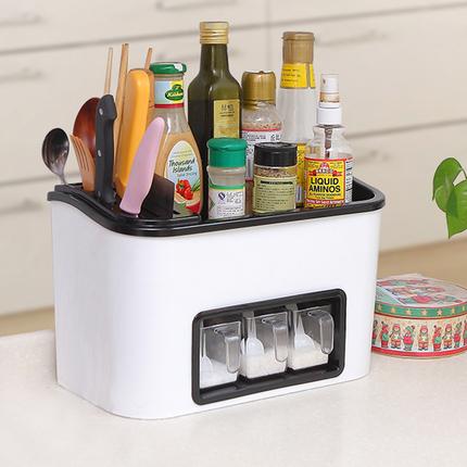 家用调料置物架厨房用品用具落地多层调味品罐盒收纳储物架省空间