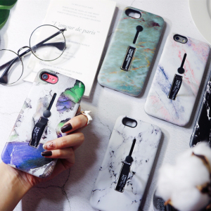 苹果7plus大理石手机壳女iphoneX硅胶隐形支架红6全包潮网红8情侣
