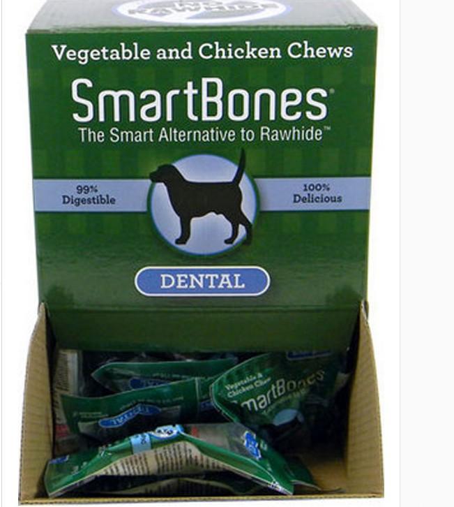 Gli Stati Uniti SmartBones dei Denti, Ossa e Denti di animali di Gusto Mini 1kg|50 candelotti di Osso di Gomma da masticare, il Cane di molare