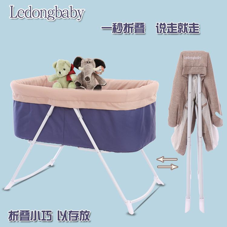 bb赤ちゃんの多機能ベビーベッド折りたたみベッド新生児ポータブルゆりかご振って攪拌機旅行ベットかご