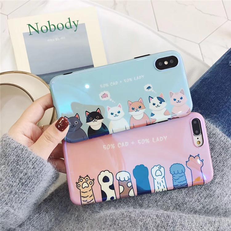 韩国可爱狗狗猫咪爪子蓝光vivox20手机壳x9/x9s plus全包软壳男女