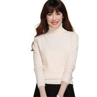 【漂亮就是任性】羊绒衫 高领毛衣女 套头修身大码针织羊毛打底衫