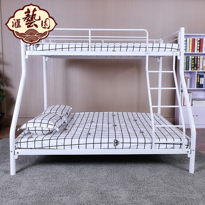 Double bed double bed iron bed female student dormitory bed staff on the bed of steel wooden bed iron bed bed